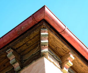 roofline with gutter
